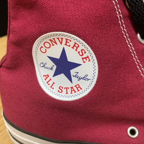 Converse All Stars, Burgundy Chuck Taylor Highs